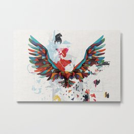 Let Your Ideas Take Off - A big Leap of faith - Soaring Eagle Metal Print