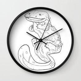 Eastern Hellbender Outline Wall Clock