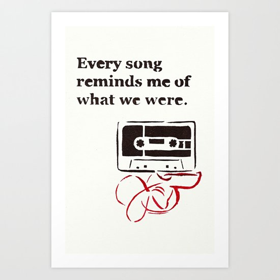 Love Mix Tape Art Print