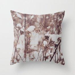 Winter Field Throw Pillow