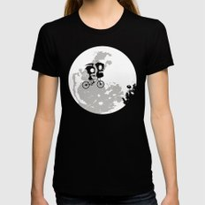 Dib and the E.T Black SMALL Womens Fitted Tee