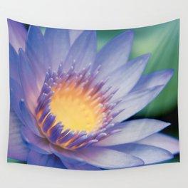 He makana nau Ke Aloha - Nymphaea stellata  - Star Lotus Wall Tapestry