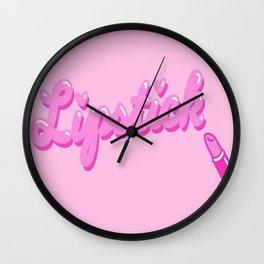 Pink Lippy Wall Clock