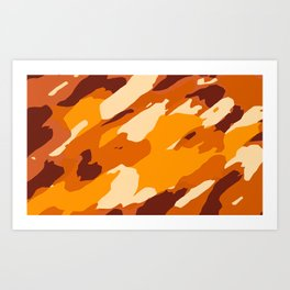 brown yellow and dark brown painting abstract background Art Print