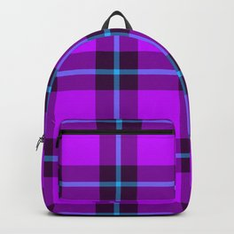plaid in night lights Backpack