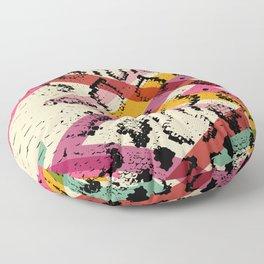 Snake skin texture. black magenta orange pink purple print Floor Pillow
