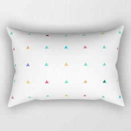 Small triangles Rectangular Pillow