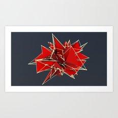 abstract polygons Art Print