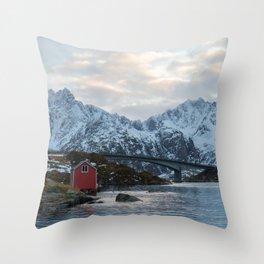 Lofoten winter Throw Pillow