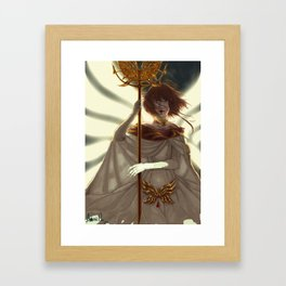 Storm and Fire Framed Art Print