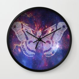 Space Moth (Commission) Wall Clock