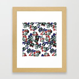 Cool Floral texture Framed Art Print