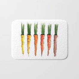 Happy colorful carrots Bath Mat