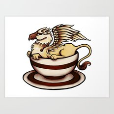 Griffin in a Tea Cup Art Print