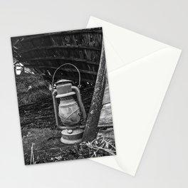 Vintage Lantern in Abandoned Barn 1 Stationery Cards