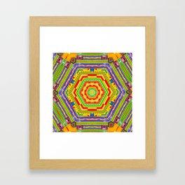 Stained Glass Kaleidoscope Framed Art Print