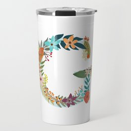 Monogram Letter G Travel Mug