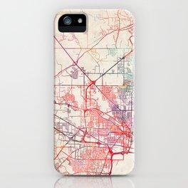 Jackson map Mississippi painting iPhone Case