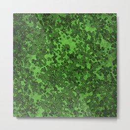 Green Hybrid Camo Pattern Design Metal Print