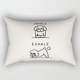 Inhale Exhale Toy Poodle Rectangular Pillow