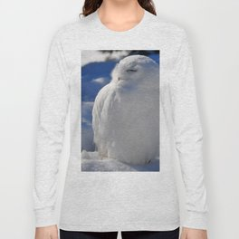 Snowy in the Snow by Teresa Thompson Long Sleeve T-shirt
