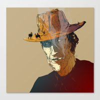 cowboy Canvas Prints featuring Cowboy by Mitt Roshin