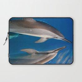 Dolphin Bubbles Laptop Sleeve