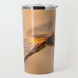 Painted Dragonfly Isolated Against Ecru Travel Mug