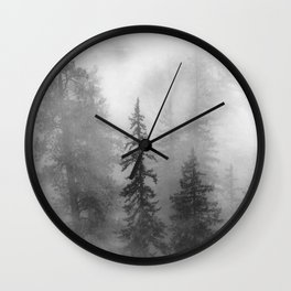 Forest In The Clouds - Nature Photography Wall Clock