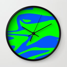 Wild: Blue and Green Wall Clock