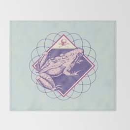 Pastel Poison Frog Throw Blanket