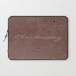 Chardonnay Wine Red Travertine - Rustic - Rustic Glam Laptop Sleeve