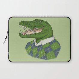 Argyle Crocodile Laptop Sleeve