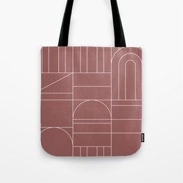 Deco Geometric 04 Dark Pink Tote Bag