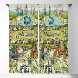 The Garden of Earthly Delights by Hieronymus Bosch Blackout Curtain