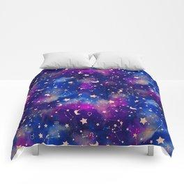 Zodiac - Watercolor Dark Comforters