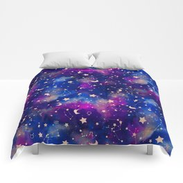 Zodiac - Watercolor Dark Comforters