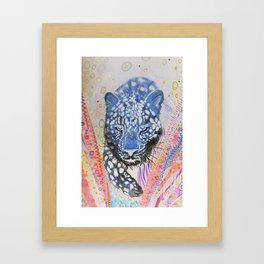 Leopard in Reverse Framed Art Print