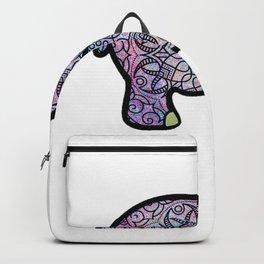 Galaxy Mandala Elephant Art Backpack