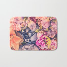 Beautiful background with different flowers Bath Mat