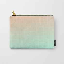 OSMOSIS BEACH - Minimal Plain Soft Mood Color Blend Prints Carry-All Pouch