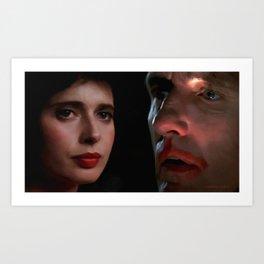 Isabella Rossellini and Dennis Hopper Art Print