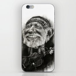 Willie Nelson Caricature iPhone Skin