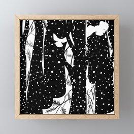 Winter forest Framed Mini Art Print