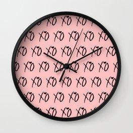 Xo,xo Pink pattern Wall Clock