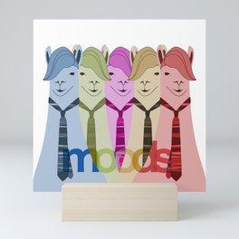 Lama Hipster Design Mini Art Print