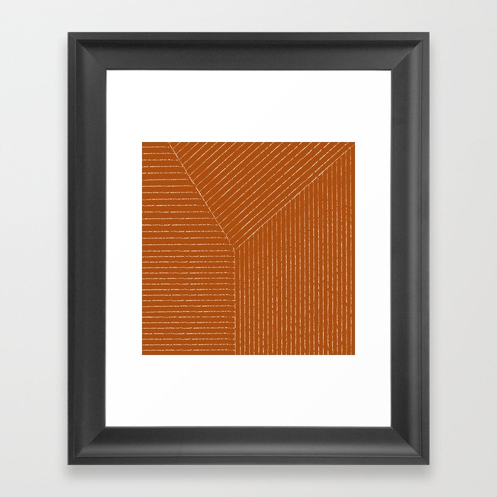 Lines (Rust) Gerahmter Kunstdruck