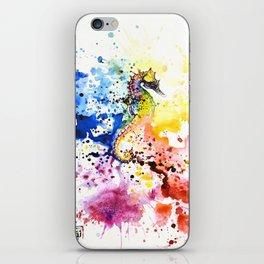 Underwater rainbow : the seahorse iPhone Skin