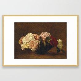 Henri Fantin-Latour - Roses In A Bowl Framed Art Print