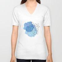 hydrangea V-neck T-shirts featuring hydrangea by morgan kendall